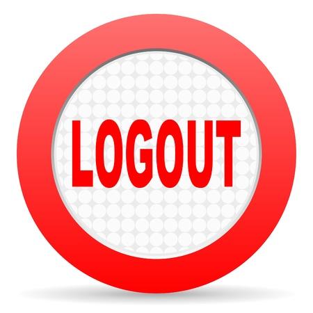 logout icon Stock Photo - 16225488