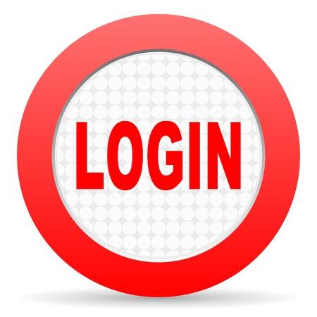 login icon Stock Photo - 16225401