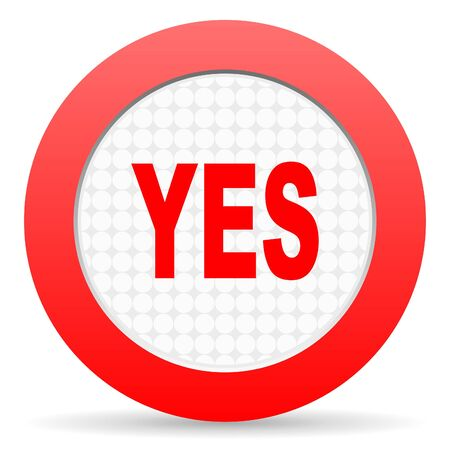 yes icon Stock Photo - 16225334