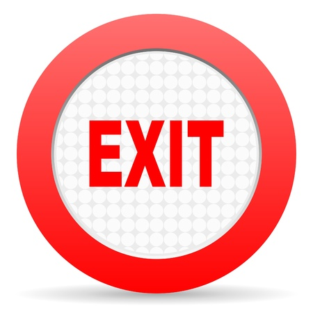 exit icon Stock Photo - 16225298