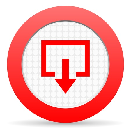 Log Out: exit icon Stock Photo