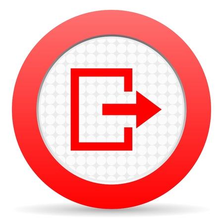exit icon Stock Photo - 16225260