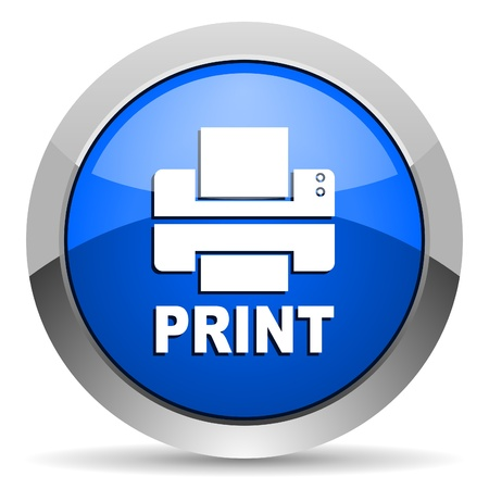 blue print: print icon  Stock Photo