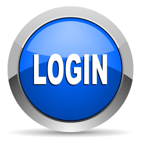 login button: login icon Stock Photo
