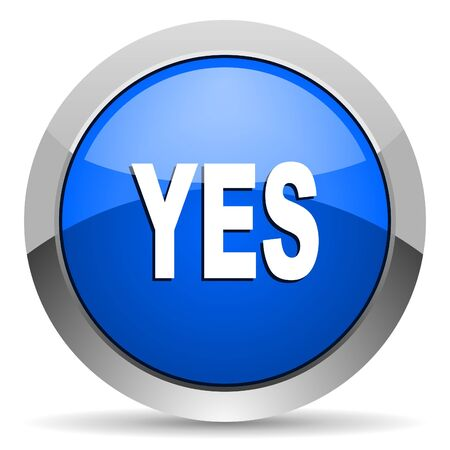 yes icon Stock Photo - 16225570