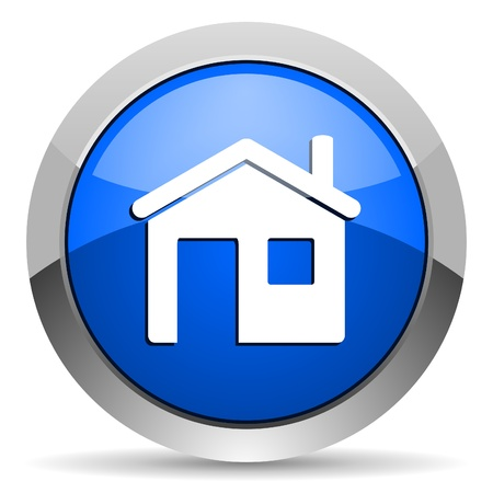 home button: home icon Stock Photo