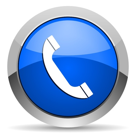 call us: telephone icon Stock Photo