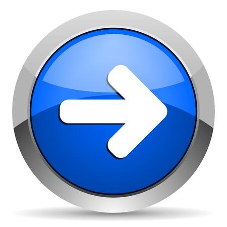 flecha derecha: flecha hacia la derecha icono Foto de archivo