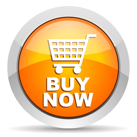 chrome cart: buy now icon Stock Photo