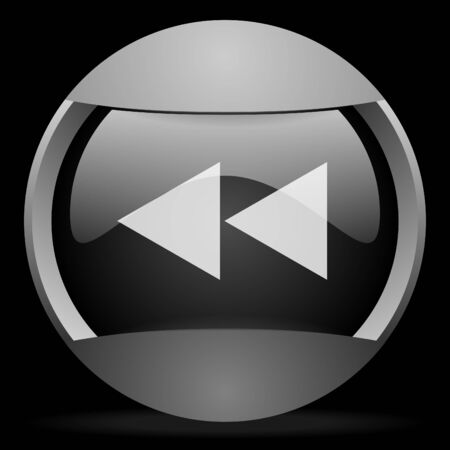 scroll round gray web icon on black background photo