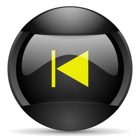 prev round black web icon on white background photo