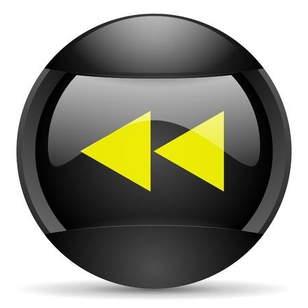 scroll round black web icon on white background photo