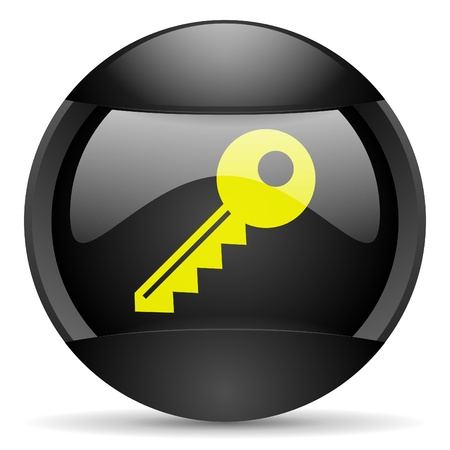 key round black web icon on white background Stock Photo - 16314891