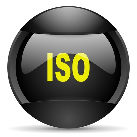 iso round black web icon on white background  photo