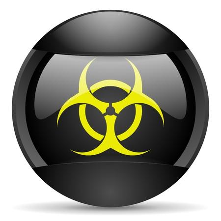 virus round black web icon on white background Stock Photo - 16315027