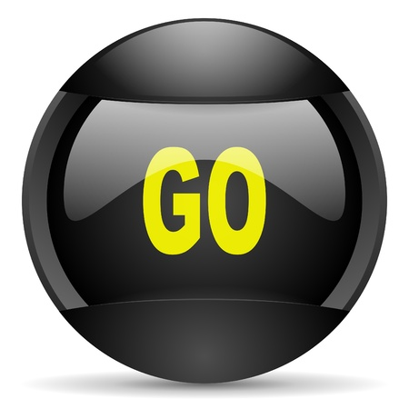 go round black web icon on white background photo