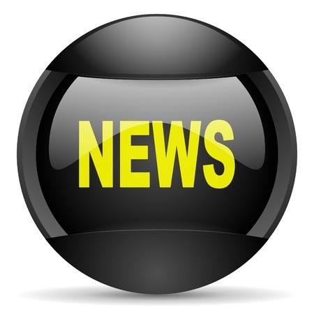 news round black web icon on white background Stock Photo - 16314928
