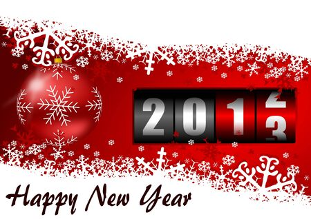 happy new year illustration with counter Stock Illustration - 16339992