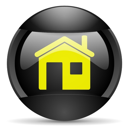home round black web icon on white background photo
