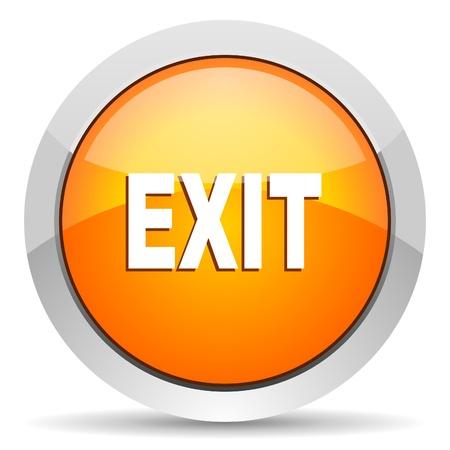 exit icon Stock Photo - 16339454