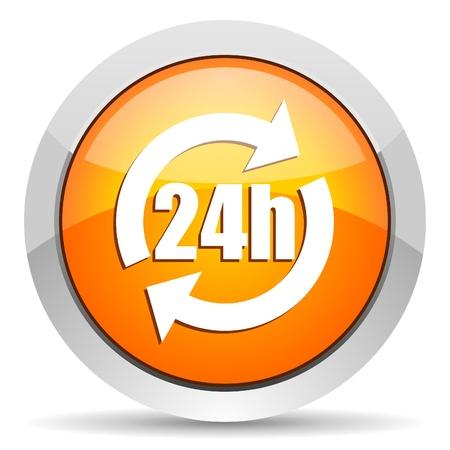 24h icon Stock Photo - 16339879
