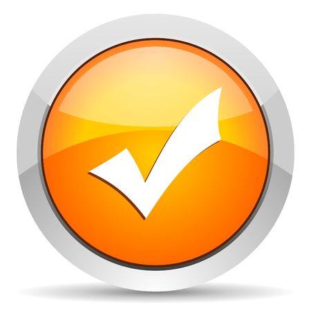 accept icon Stock Photo - 16339449
