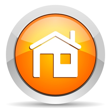 button icon: home icon Stock Photo