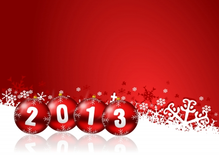 2013 new years illustration with christmas balls Imagens