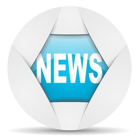 news round blue web icon on white background Stock Photo - 16340339