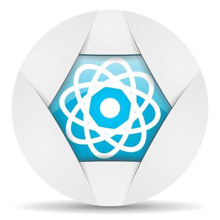 atom round blue web icon on white background Stock Photo - 16340708