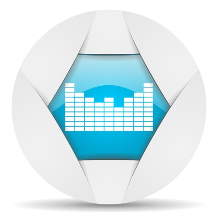 sound round blue web icon on white background photo