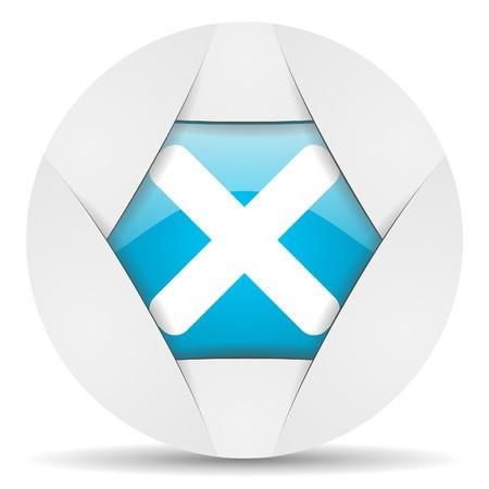 cancel round blue web icon on white background Stock Photo - 16340105