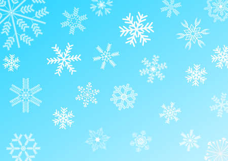 snowflakes on blue background illustration Stock Illustration - 16505941
