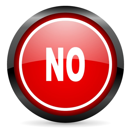 no round red glossy icon on white background Stock Photo - 16506040