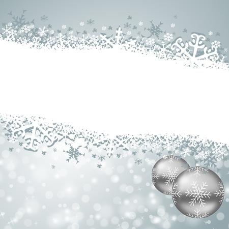 christmas card with snowflakes and christmas balls Stock Photo - 16506302