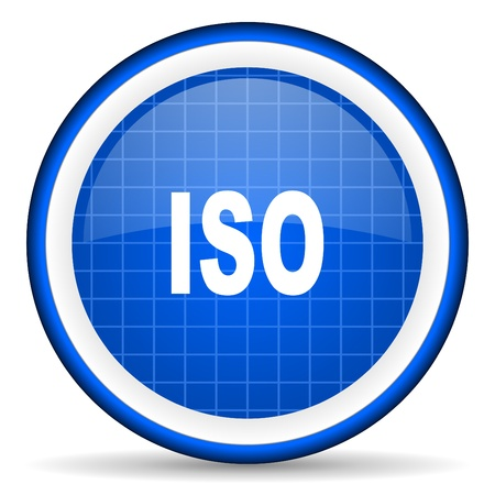 norm: iso blue glossy icon on white background