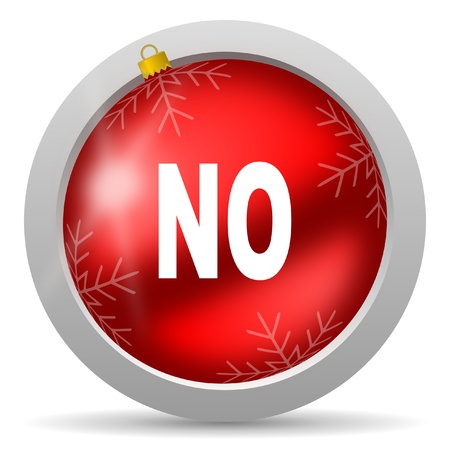 no red glossy christmas icon on white background Stock Photo - 16580483