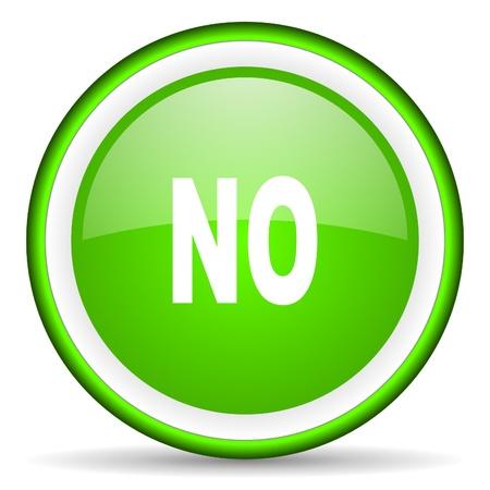 no green glossy icon on white background Stock Photo - 16622820