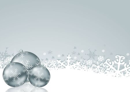 christmas background with svowflakes and christmas balls photo