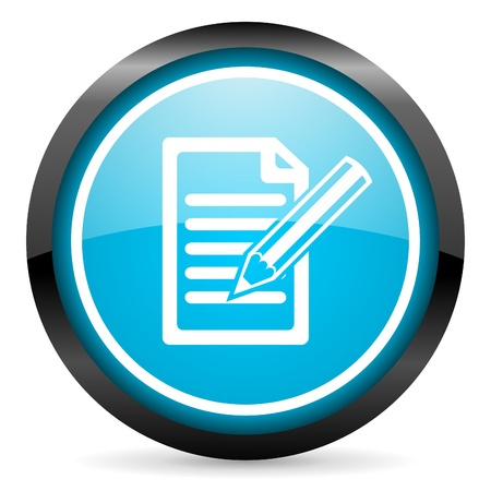 archive site: notes blue glossy circle icon on white background Stock Photo