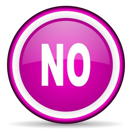 no violet glossy icon on white background Stock Photo - 16679337