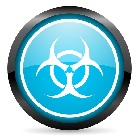 virus blue glossy circle icon on white background Stock Photo - 16678940