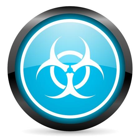 virus blue glossy circle icon on white background Stock Photo - 16678940