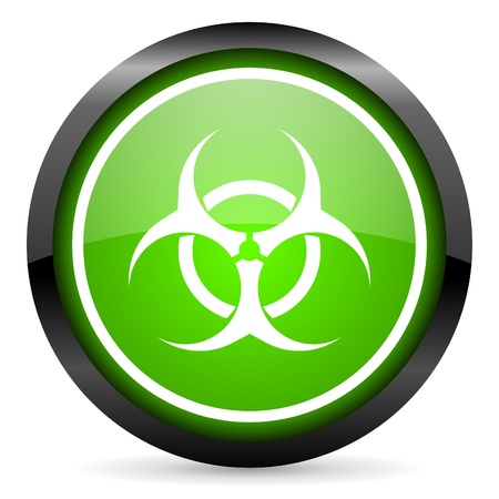 bacterioa: virus green glossy icon on white background