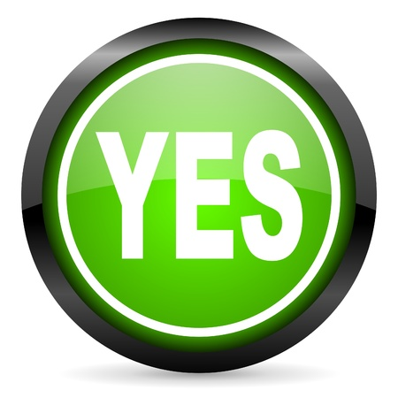 proceed: yes green glossy icon on white background