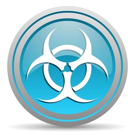 virus blue glossy icon on white background Stock Photo - 16810061