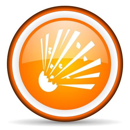 bomb orange glossy icon on white background Stock Photo - 16881519