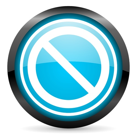 access denied blue glossy icon on white background photo