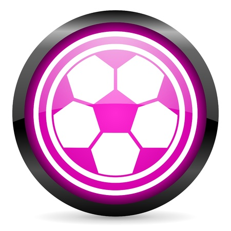 soccer violet glossy icon on white background photo