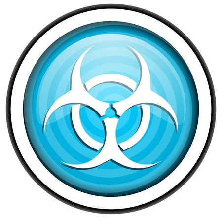 virus blue glossy icon isolated on white background Stock Photo - 16955536